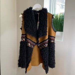 Embroidered patch and fur lined